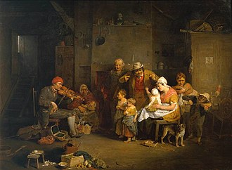 1806 in art - Image: Blind Fiddler (1806) by David Wilkie