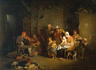 1806 in art - Image: Blind Fiddler (1806) by David Wilkie