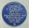 Blue plaque George Cadbury.jpg