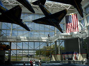 National Naval Aviation Museum - The Blue Angels Atrium in the National Naval Aviation Museum