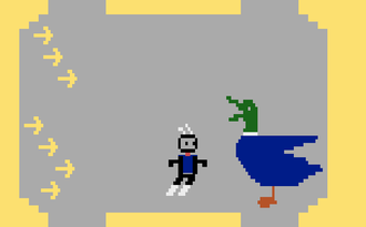Homebrew (video games) - Screenshot of the Atari 2600 homebrew Duck Attack! (2010)
