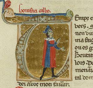 Bonifaci Calvo - Bonifaci Calvo in a 13th-century chansonnier.