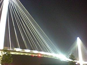 Trails in Omaha - The Bob Kerrey Pedestrian Bridge connects the trails of Nebraska and Iowa.