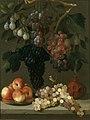 Bodegón de uvas, manzanas y ciruelas, de Juan de Espinosa.jpg