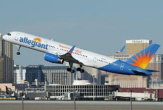 Allegiant Air - An Allegiant Air Boeing 757–200 at McCarran International Airport