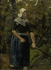 A Peasant Woman with a Stick