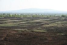 La Bog of Allen e in lontananza Croghan Hill
