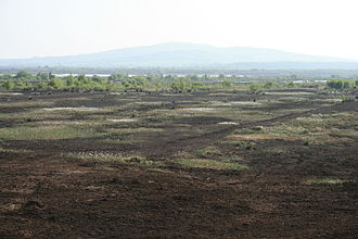 Bog of Allen - Bog of Allen - Croghan Hill, Offaly, in the distance