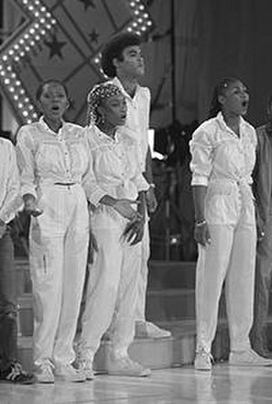 Bobby Farrell - Farrell, 3rd from the left, performing with Boney M. in 1981.