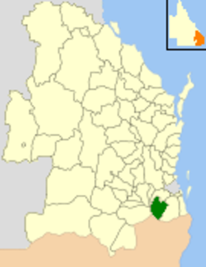Shire of Boonah - Location within Queensland