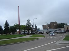 Border marker in Lloydminster