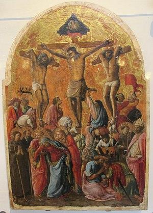 Borghese di Piero Borghese - Crucifixion by Borghese di Piero Borghese, St. Lucia a Montecastello, circa 1430