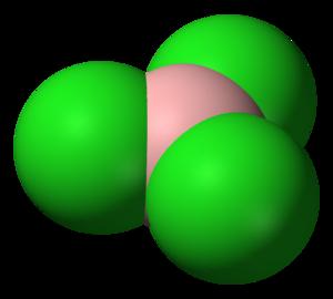Boron trichloride - Image: Boron trichloride 3D vd W