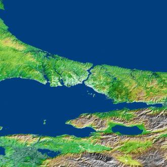 Çatalca Peninsula - Çatalca (west) and Kocaeli peninsulas (east) separated by the Bosphorus