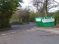 Bottle bank in the Riverford Farm Shop car park - geograph.org.uk - 1575908.jpg