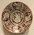 Bowl with Figural and Foliate Designs, late 12th - early 13th century, Seljuk-Atabeg period, Kashan, Iran - Sackler Museum - DSC02501.JPG