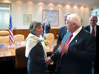 Barbara Boxer - Senator Boxer meets Israeli Prime Minister Ariel Sharon in 2005