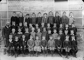 Boys of the national school, Llanymddyfri