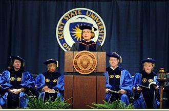 Betsy Boze - Dr. Betsy Boze presiding over Kent State University Stark Commencement