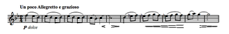 Symphony No. 1 (Brahms) - The A theme as stated by the clarinet
