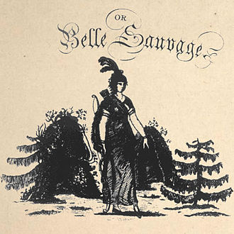 """James Nelson Barker - Cover to John Bray's score of """"The Indian Princess, or La Belle Sauvage."""""""