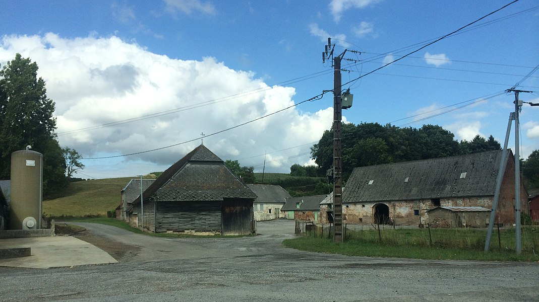 View from the small village of La Correrie in Braye, Northern France / Champagne area.