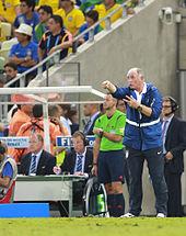 Scolari con il Brasile nel Mondiale 2014