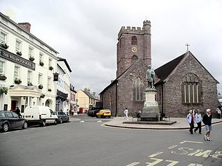 Brecon market town in the county of Powys, Wales