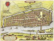 Bremen um 1598 plan von hogenberg landseitig die mittelalterliche