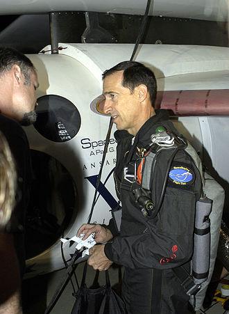 SpaceShipOne Flight 17P - Brian Binnie flight preflight before the final SpaceShipOne flight 17P