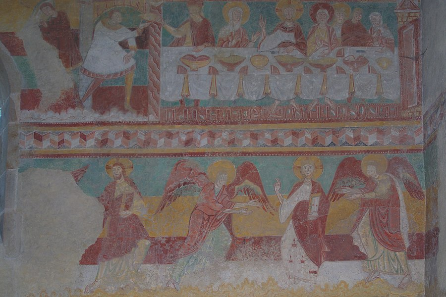 Frescoes in the church of Brinay (France, Cher)