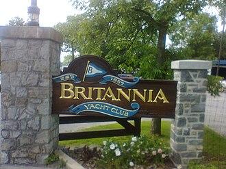 Britannia Yacht Club - Britannia Yacht Club gates