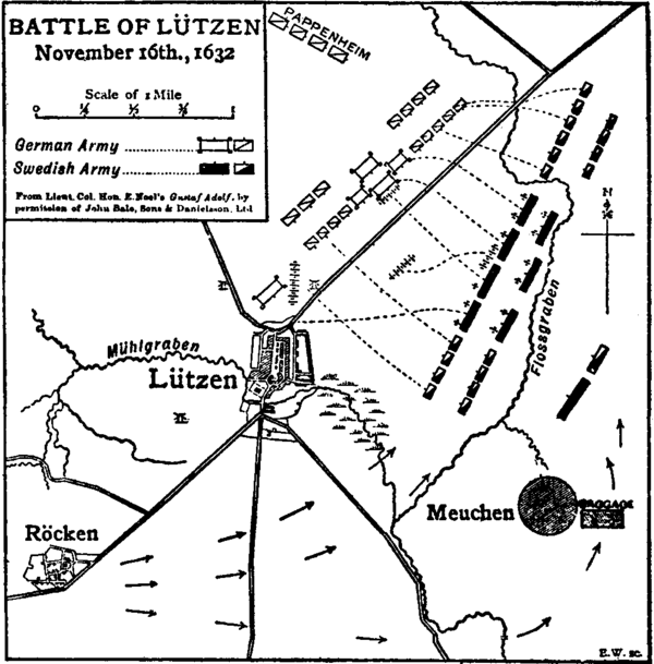Britannica 1911 Lützen 1632 Battle Map.png