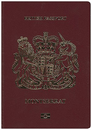 British passport (Montserrat) - Front cover of the British Montserrat passport