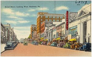 Hazleton, Pennsylvania - An old postcard of Hazleton (during the early 20th century)