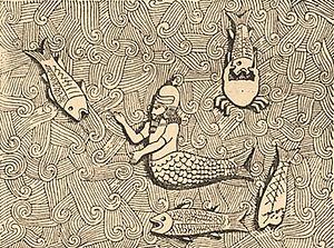 "Dagon - ""Oannes"" relief from  Khorsabad"