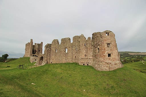 Brough castle from south east