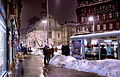 Budapest, Franciscan Square, winter evening I.jpg