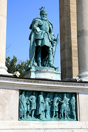 Gabriel Bethlen - Statue of Gábor Bethlen, Heroes' Square, Budapest, Hungary