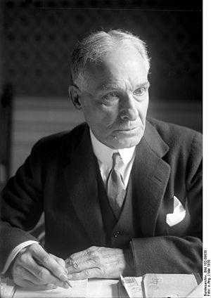 Jacob Gould Schurman - Schurmann in 1930