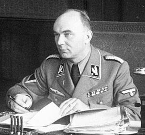 Chełmno extermination camp - Gauleiter Arthur Greiser in Poznań (Posen), 1939