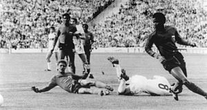 1974 FIFA World Cup - Capello (No.8) is brought down v. Haiti