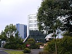 Business Park at Telford Town Centre. Telford's town centre grew in stages from being a large hypermarket in the early 1970s to being a major shopping centre today. The office blocks are located to the north of the centre near to the railway station.