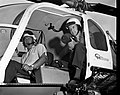 C.1966. No metadata available. US Forest Service personnel (possibly John Wear) with a radar gun in a Columbia Helicopters helicopter. (35268790256).jpg