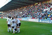 Salmantino Players Celebrate A Goal In