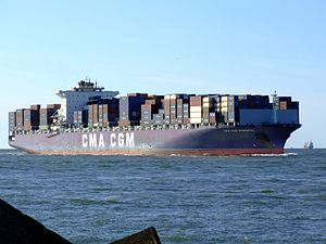 CMA CGM Parsifal p04 approaching Port of Rotterdam, Holland 29-Aug-2007.jpg