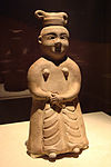 CMOC Treasures of Ancient China exhibit - celadon figure of a maid.jpg