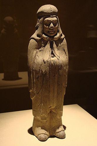 Xianbei - Figure of a Xianbei warrior from the Northern Dynasties (286-581 AD) era
