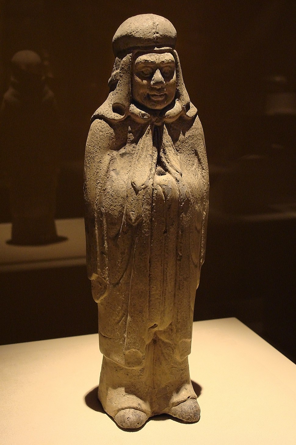 CMOC Treasures of Ancient China exhibit - figure of a Xianbei warrior