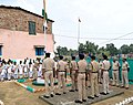 CRPF personnel hoisting the National Flag on 71st Independence Day Celebrations, in Gaya, Bihar on August 15, 2017.jpg